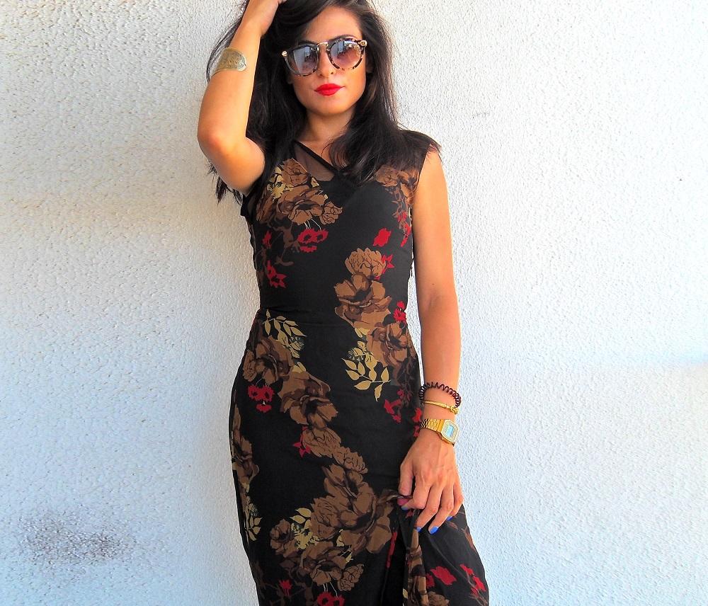 Vestido vintage com flores