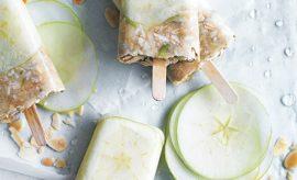 receita gelado de maça verde