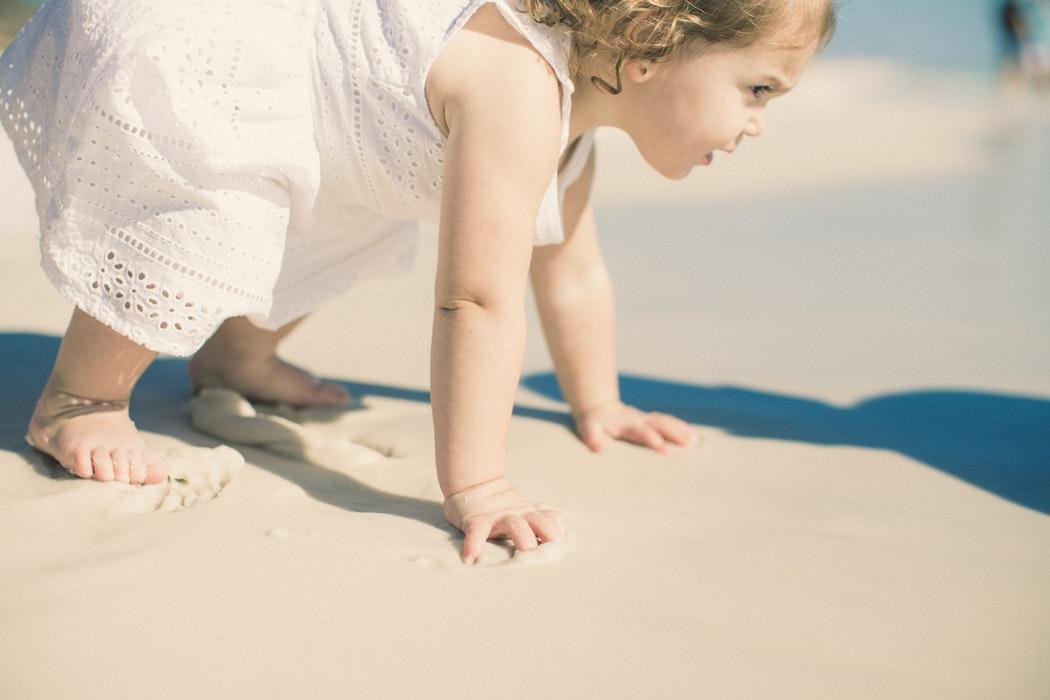 Bebés na praia